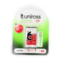 Uniross - Accu - Lr22 - 200mAh - 9V - Ref : U0240383