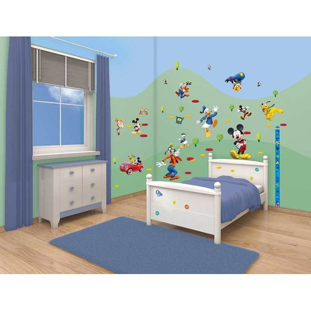Walltastic Stickers Muraux Mickey Mouse Multicolour Pas Cher