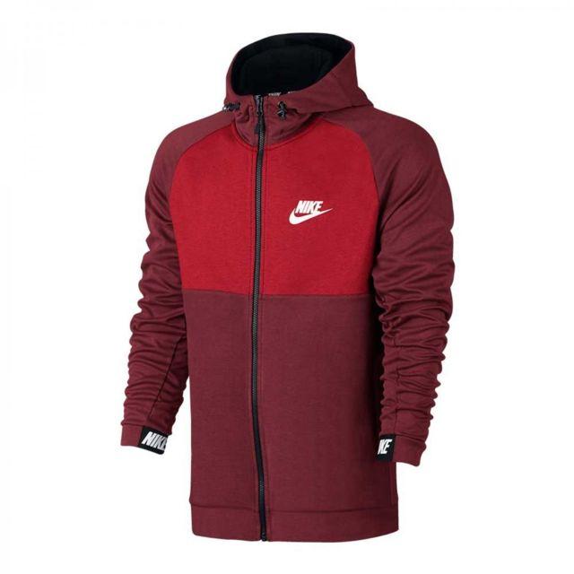 Sweat à capuche Nike Sportswear Tech Fleece Rouge
