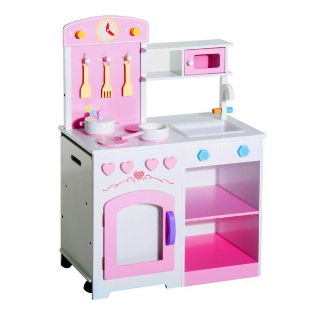 Homcom Cuisine Pour Enfants Dinette Jeu Jouet D Imitation Multi