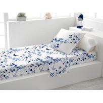 Soleil D'OCRE - Parure de lit 1 place Hirondelle bleu
