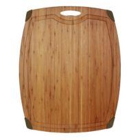 Totally Bamboo - Ba201678 Planche à Découper avec Rigole SlimetFix 54 x 42 cm Bambou