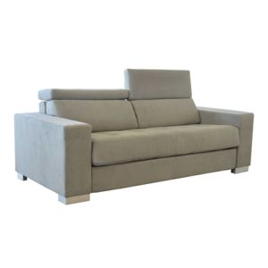 Alin a mauro canap 3 places convertible rev tement - Canape microfibre taupe ...
