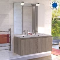 Meuble 2 vasque salle bain 120 cm achat meuble 2 vasque for Rue du commerce meuble salle de bain