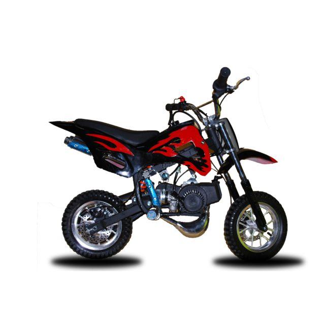 fsm pocket cross 49cc noir rouge achat vente moto cross 50 pas cher rueducommerce. Black Bedroom Furniture Sets. Home Design Ideas