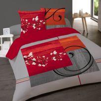 Dourev - Housse de couette 220x240cm imprimée Asian Zen + 2 taies