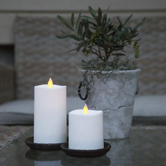 White Star Bougie Decorative Led Flamme Oscillante Pas Cher
