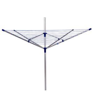 Homcom sechoir a ligne parapluie aluminium hauteur for Seche linge exterieur parapluie