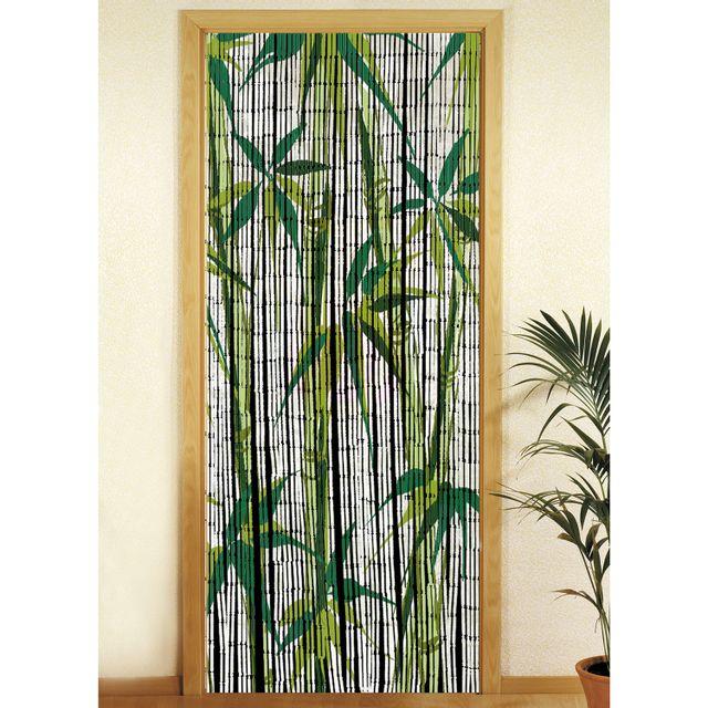 Wenko - Rideau de porte - Bambou - Bamboo Blanc - pas cher Achat ...