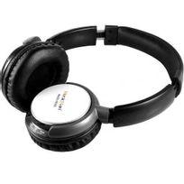 Musicman - Basshead Casque Audio sans fil avec lecteur Mp3 intégré et radio Fm - Blanc