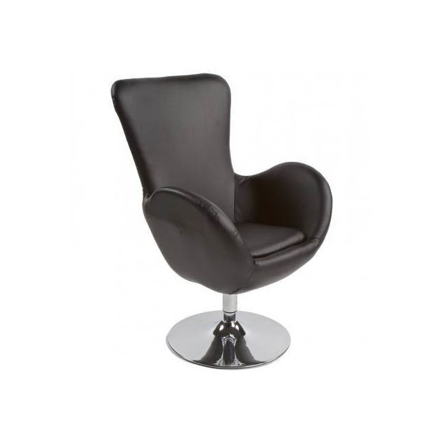 TECHNEB Fauteuil design et contemporain JAMES pivotant noir