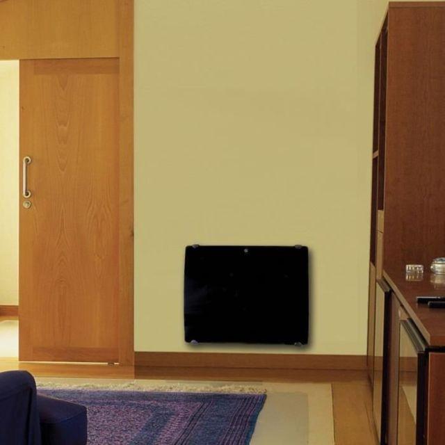 voltman radiateur lectrique verre galb a inertie en c ramique 2000w lcd programmable pas. Black Bedroom Furniture Sets. Home Design Ideas