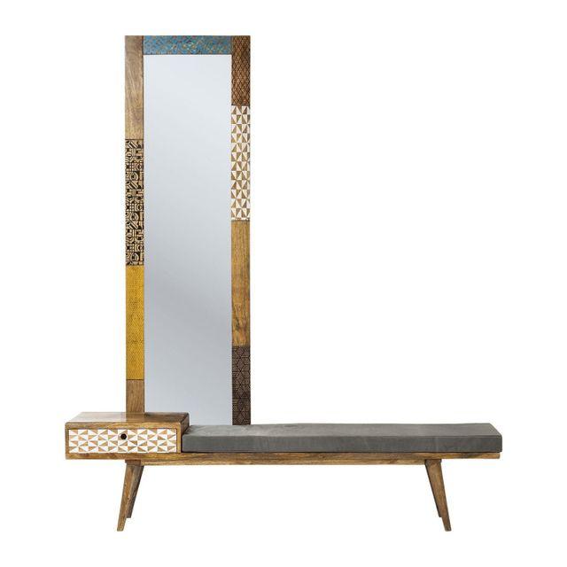 Karedesign Banc avec miroir Soleil Kare Design