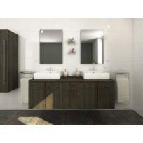 Colonne salle bain wenge - catalogue 2019 - [RueDuCommerce - Carrefour]