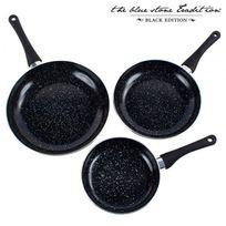 Big Buy - Poêles Revêtement Pierre Black Stone Pan 3 pièces