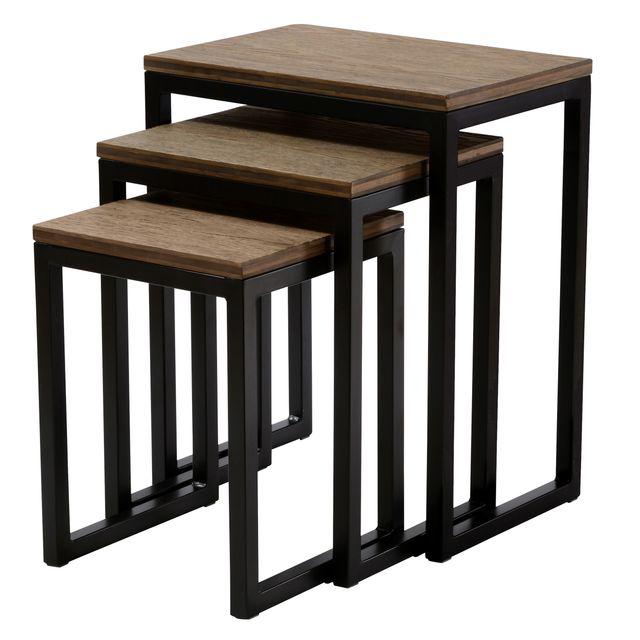 Rendez Vous Deco Table basse carrée Kulu lot de 3
