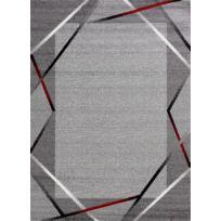 Tapis de couloir Santana gris, noir, rouge 80x250cm
