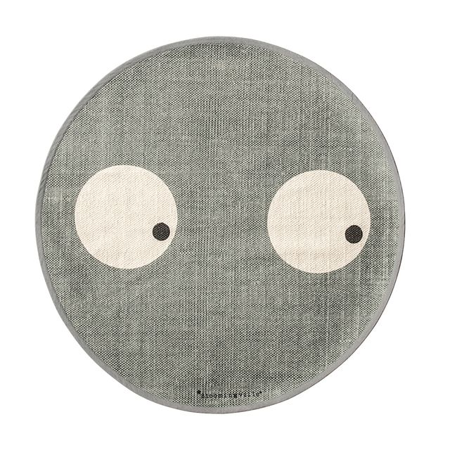 Bloomingville Tapis Rond Yeux - Gris