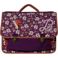 BENSIMON - Cartable mauve à motifs - 3 Compartiments - L 38cm