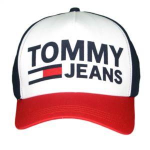 tommy hilfiger casquette tommy jeans bleu marine rouge et blanche inscription feutrine pour. Black Bedroom Furniture Sets. Home Design Ideas