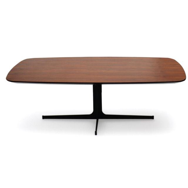 La Maison Du CanapÉ Table basse bois Woody - Noyer - Bois foncé