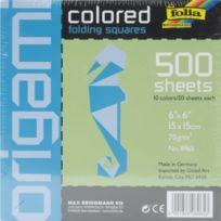 "Herma - Folia Assorties Origami Papier De 6 ""X 6"" 500/PKG Global Art 8965"