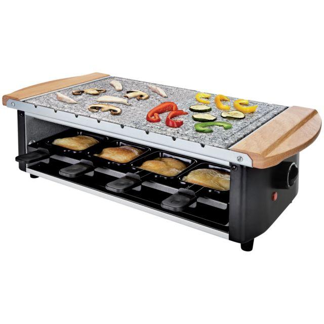 DOMOCLIP Set à raclette/pierre à gril/brochette DOM25555