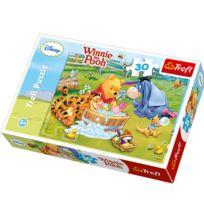 Trefl - Puzzle 30 pièces Winnie l'ourson : Le bain de porcinet