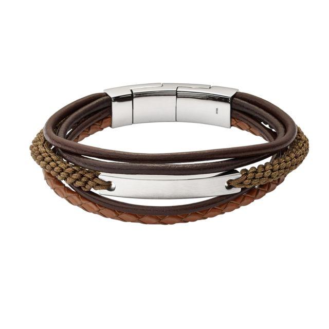 bracelet cuir homme marron