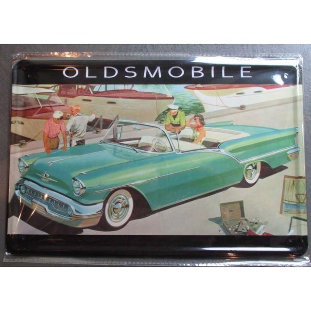 universel plaque oldsmobile cabriolet vert voiture americaine ann e 50 pas cher achat. Black Bedroom Furniture Sets. Home Design Ideas