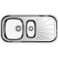 Nayes - Evier Inox 1 Cuve 1/2 1 Egouttoir Astral 1 1/2 C 1E 33217.X, Microstructuré