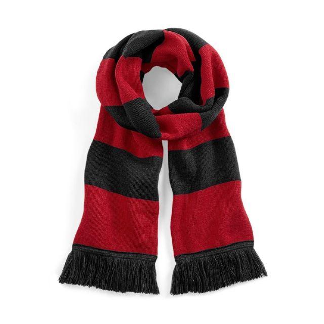 883dc323f26 Beechfield - Longue écharpe rayée - B479 - noir et rouge - pas cher ...