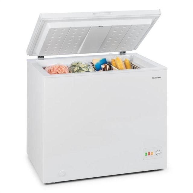 KLARSTEIN Iceblokk 200 Congélateur A++ 200 litres 2 paniers+ roulettes - blanc