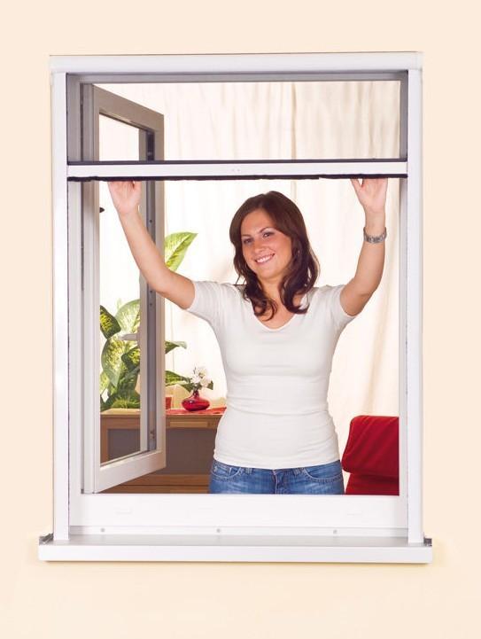 Moustiquaire Enroulable Fenêtre - Pvc - Blanc L080 x H130 cm à découper soi-même