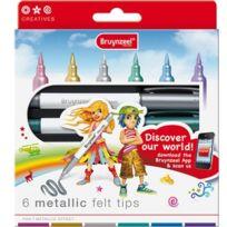 Bruynzeel - Metallic Felt-tip Pens, 6PCS. 7965K06B