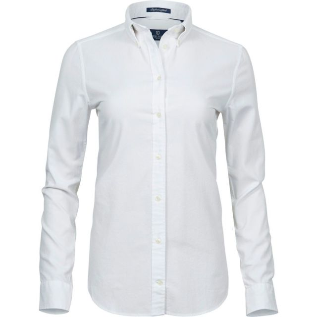 Tee-jays Chemise femme Oxford - 4001 - blanc - manches longues