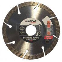 WellCut - Disque Standard Diamant Turbo - Taille - Ø 115 x 22.23mm