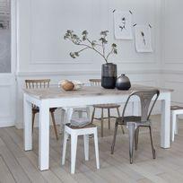 Bois Dessus Bois Dessous - Table en bois d'acajou et teck 180 Londres