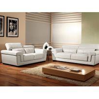 Canape cuir blanc Bient´t les Soldes Canape cuir blanc pas cher