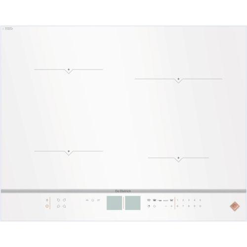 de dietrich table de cuisson induction 65cm 4 feux 7400w blanc dpi7670w achat plaque de. Black Bedroom Furniture Sets. Home Design Ideas