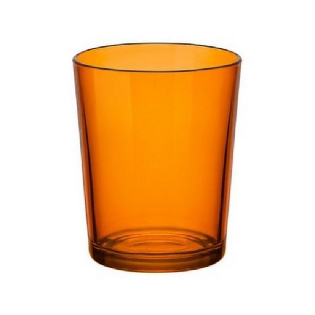 1001DECOTABLE Verre gobelet haut orange