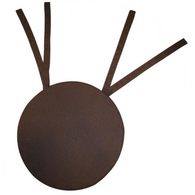 COTTON WOOD Galette de chaise ronde en coton 40 cm