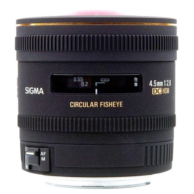 Sigma Objectif 4.5 mm f/2.8 FishEye Dc Ex Hsm Nikon Garanti 3 ans