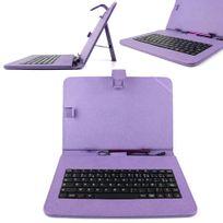 Duragadget - Etui violet + clavier Azerty pour Archos 101 Platinum, 101 Titanium, 101 Cobalt