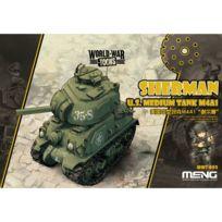 Meng - Maquette Char : World War Toons : Sherman Us Medium Tank M4A1