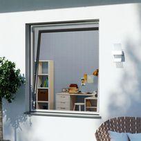 Windhager - Moustiquaire cadre magnétique fenêtre 120x120cm blanc