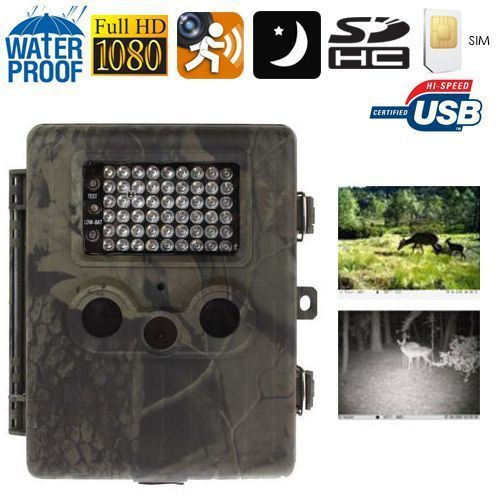 Yonis Caméra chasse gibier Gsm Full Hd 1080P infrarouge détection mouvement