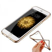 Shot - Coque Silicone Contour Iphone 5/5S Plus Apple Chrome Transparente Bumper Protection Gel Souple OR