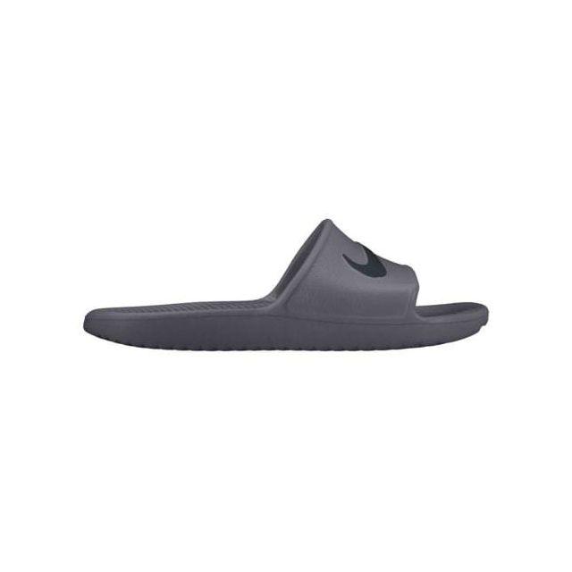 fa30877b7b8cd Nike - Claquettes Kawa Shower gris noir - pas cher Achat   Vente Matériel  d entraînement - RueDuCommerce