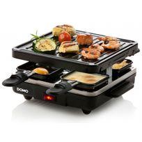 Domo - Appareil à raclette 'Just us' 4 personnes - Avec plaque de cuisson grill amovible
